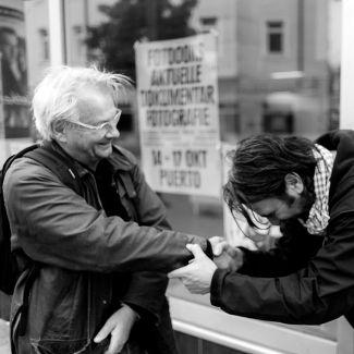 Fotodoks verbeugt sich vor unserem Gast Anders Petersen beim Festival 2010.